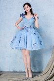 Yabreny 2020 Elegant Sky Blue A-line under $100 Homecoming Dresses cyh-033