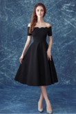 Yabreny black Off the Shoulder Homecoming dresses Knee-Length Prom Dresses TSJY-005