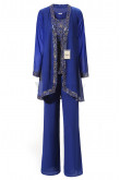 Yabreny Sequins Outfit Women's special occasion Pantsuit Royal blue MT001707