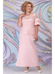 Pink Ankle-Length Plus Size Mother of the bride Dresses mps-454-3