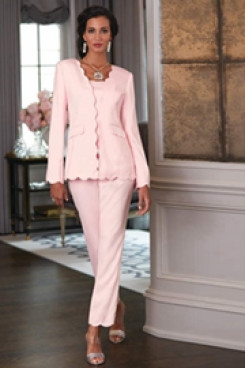2020 Fashion Pink Mother of the bride pant suit outfit for weeding mps mps-076