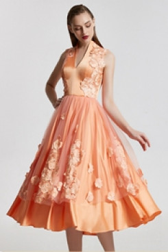 2020 Glamorous Orange A-Line lace Homecoming Dresses cyh-022