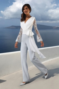 2019 New arrival Bridal jumpsuit Beach wedding dresses so-159