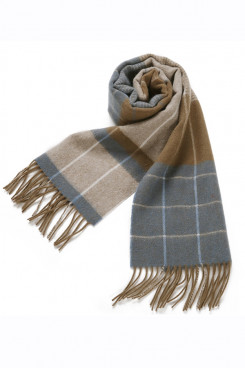 2019 Popular Gray Fashion Basulan Wool Plaid Scarves