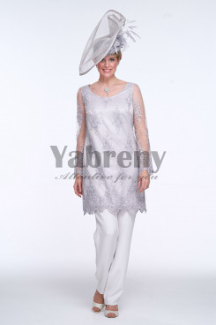 2020 Silver grey Mother of the bride pants suit dresses mps-102