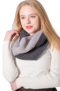 2019 Women's Scarf Ladies Infinity Scarves Funky Knitted Gray Free Shipping