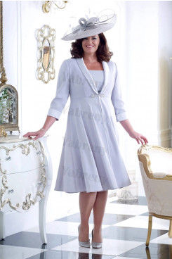 2021 Fashio Two piece Plus size Mother of the bride dresses with jacket mps-347