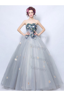 2020 Fashion Strapless light Blue Quinceanera Dresses TSJY-199