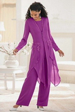 2020 Fuchsia mother fo the bride Pants sets mps-224