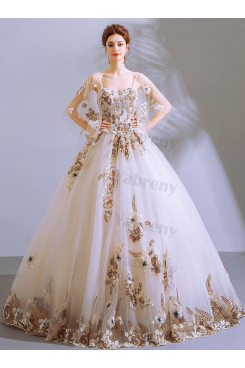 2020 Glamorous White Spaghetti Empire Quinceanera Dresses TSJY-186