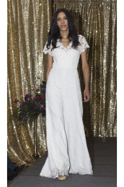 2020 Hot sale lace bridal wedding jumpsuit