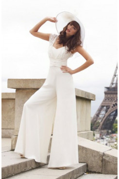 2020 Hot Sale Latest Fashion Off the Shoulder bridal jumpsuits