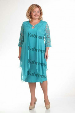 2020 Jade Blue Plus Size cheap Mother Of The Bride Dresses Women's Outfis mps-371-1