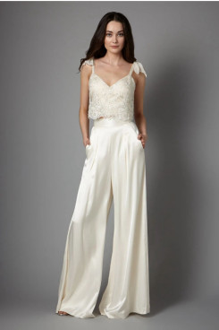 2020 Modern Spring Charmeuse Garden bride jumpsuits So-208