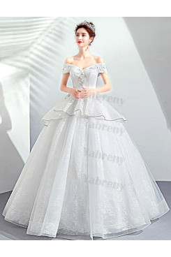 2020 New Arrival Ivory Off the Shoulder Princess Quinceanera Dresses TSJY-194