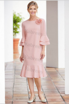 2020 Pink Mid-Calf Mother of the bride dresses mps-339