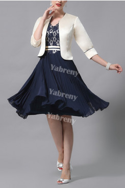 2021 Hot Sale Elegant Mother Of The Bride Dress,Half Sleeves Mother Of The Bride Outfits With Jacket mps-442
