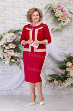 2021 Fashion Plus size Mother of The Groom Dresses, Burgundy Knee-Length Women's Dress mps-471-1