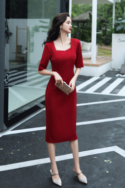 2021 Burgundy Women's Dresses,Glamorous Summer Dresses cso-015