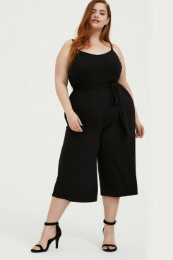 2021 Plus Size Women's Dresses,Black Chiffon Summer Jumpsuits mps-412
