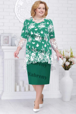 2 PC Plus Size Green Women's Outfis Cheap Modern Mother of the Bridal Dresses mps-368