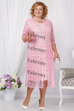 2 PC Plus Size Pink Women's outfis Cheap Mother of the Bridal Dresses mps-366-1