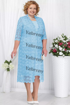 2 PC Plus Size Sky Blue Women's outfis Cheap Mother of the Bridal Dresses mps-366-2