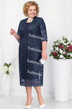 2 PC Plus Size Women's outfis Dark Navy Mother of the Bridal Dresses mps-366