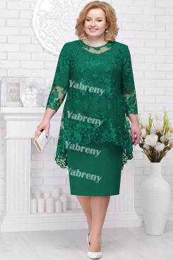 2 PC Plus Size Women's Outfis Green Cheap Knee-Length Mother of the Bridal Dresses mps-367-1