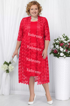 2 PC Plus Size Women's outfis Red lace Mother of the Bridal Dresses mps-366-3