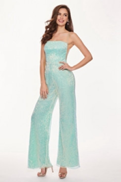 Aqua Spaghetti Cocktail Jumpsuits Dresses traje de fiesta so-166