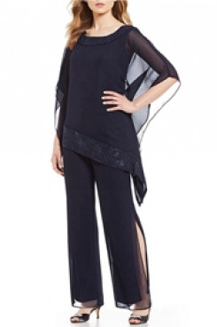 Asymmetrical Top and Pants suit dresses for Mother of the bride 2020 New arrival mps-120