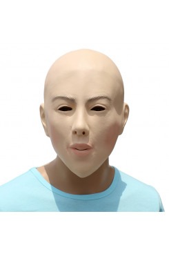 Bald beauty mask plays face mask Party Costume Deluxe Novelty