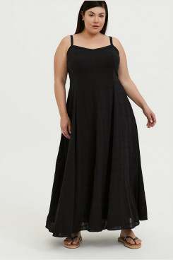 Black Plus Size Mother Of The Bride Dresses, Ankle-Length Women's Dresses mps-398