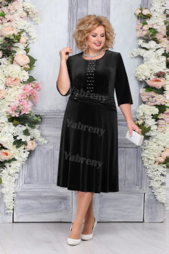 Black Velvet Mother of The Bride Dresses, Elegant Plus size Women's Dresses mps-475-1