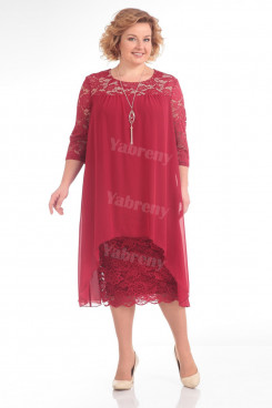 Rose Red Lace Mother Of The Bride Dress Plus Size Women's Dresses mps-371-3