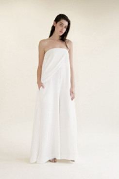 Chiffon Bridal Jumpsuit dresses Summer wedding pantsuit dresses so-110
