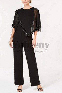 Chiffon Sequins Mother of the bride Jumpsuit Women Evening dressy mps-008
