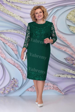 Dark Green Lace Knee-Length Mother of the Bride Dresses Plus Size Women's Dress mps-468-2
