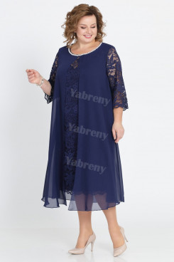 Dark Navy Mother Of The Bride Dresses Plus Size women's Dresses mps-452-3