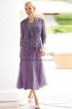 2021 3-PC Outfit Lavender Mother of the bride dresses with jacket mps-400