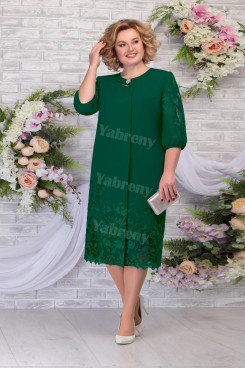 Elegant Plus size Green Women's Dresses,Half Sleeves Mother of The Bride Dresses mps-477-3
