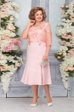Elegant Plus size Pink Mother of The Groom Dresses,Half Sleeves Mother of The Bride Dresses mps-478-1