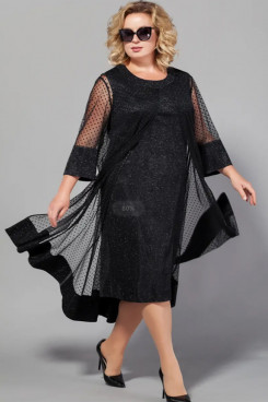 Elegant Plus Size Women's Dresses,Black Lace Dot Mother Of The Bride Dresses mps-421