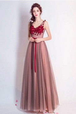 Empire Evening Dresses Handmade Flower Modern Prom Dresses TSJY-105