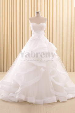 Fashion Ruffles Sweetheart Wedding dresses wd-023