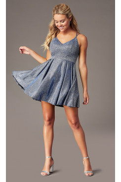 Glitter-Knit Homecoming Dress with Pockets, A-line Sexy Graduation Party Dresses sd-026