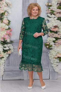 Green Lace Mermaid Mother of the Bride Dresses Plus Size Women's Dress mps-469-3