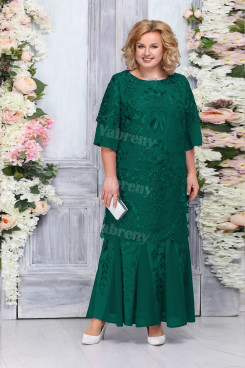 Green Lace Mother of The Bride Dresses, Plus size Ankle-Length Women's Dresses mps-474-1