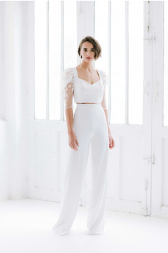 Half Sleeves Fashion Lace lovely Wedding Jumpsuits so-226